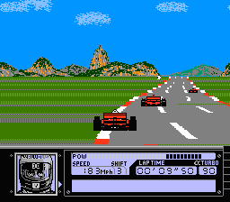 Al Unser Jr Turbo Racing (U) (Приставка Dendy)
